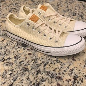Converse RARE ivory perforated leather